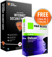 Total Defense ISS US Annual + H&R Block at Home Deluxe Edition Bundle